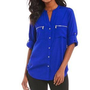 Calvin Klein Royal Blue Blouse